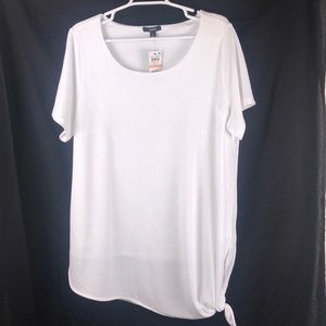 NWT 2X Alfani fully lined textured side tie blouse